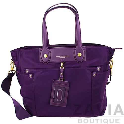 MBMJ PREPPY NYLON ELIZ-A-BABY 深紫色媽媽包